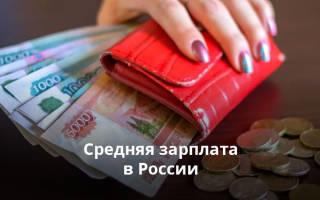 Среднемесячная заработная плата в рф по данным росстата