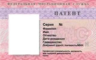 Как и где оформить патент на работу в московской области