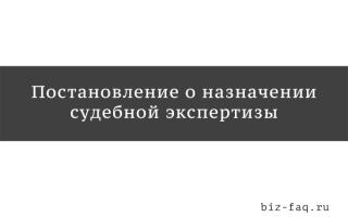 Постановление следователя о назначении судебной экспертизы образец