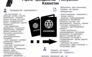 Доверенность в посольство казахстана утрата гражданства