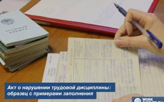 Докладные записки о нарушении трудовой дисциплины образец пример