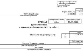 Докладная записка о переводе на другую должность образец