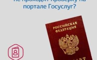 Госуслуги сколько на практике проходит проверка пасспорта